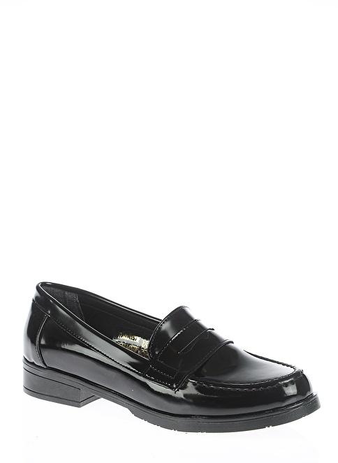 Bambi Rugan Loafer Ayakkabı Siyah